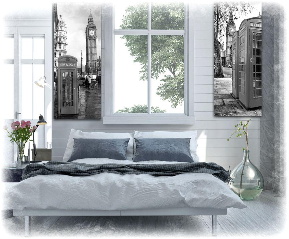obrazy w ramie z londynem do sypialni