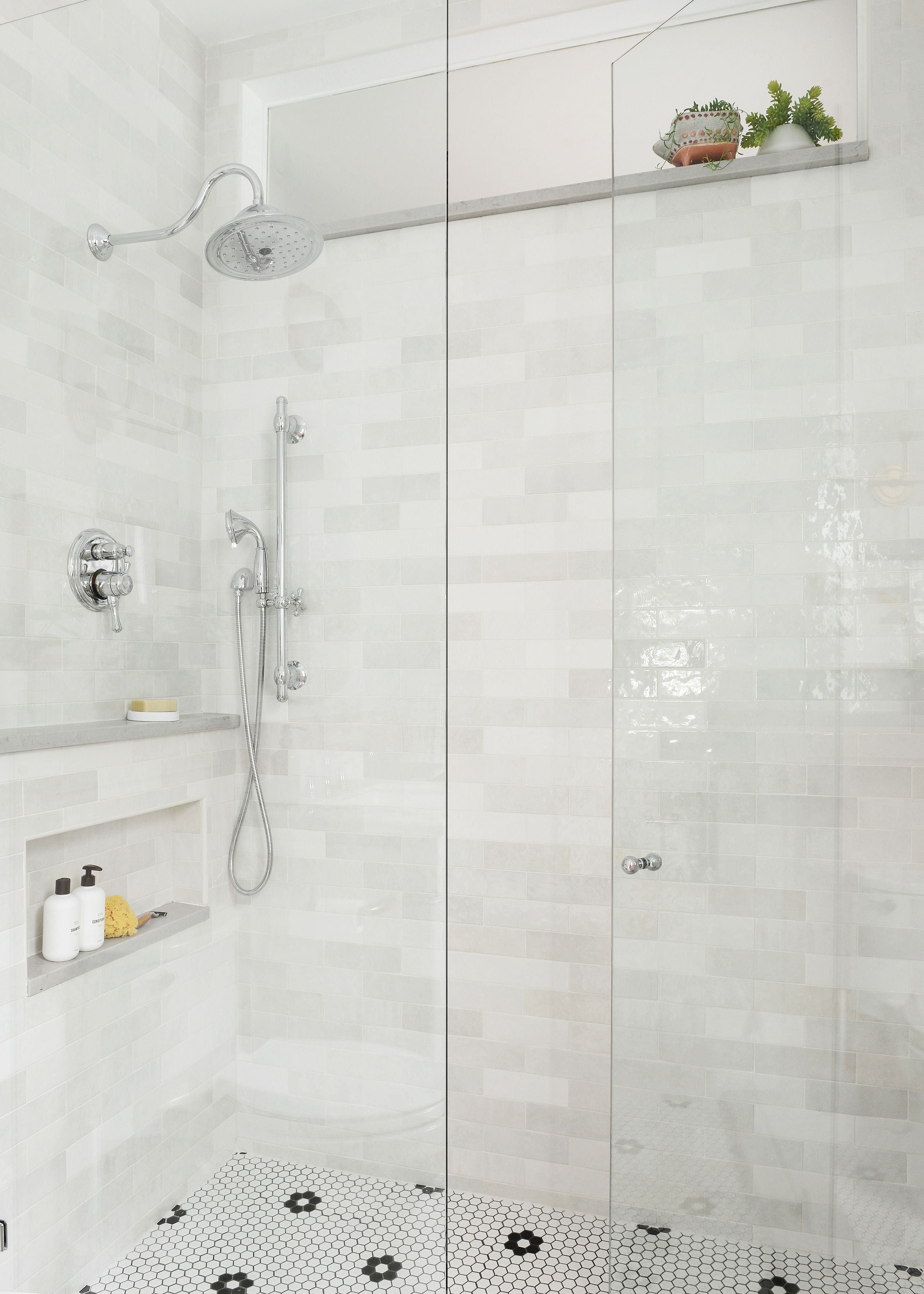Our Small Bath Reveal How We Created A Spa Like Shower System Small Bathroom Small Bathroom Makeover Bathrooms Remodel