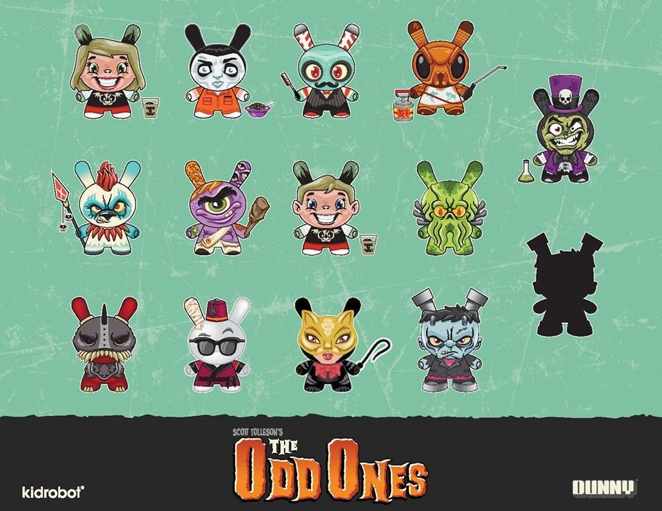 ONE BLIND BOX OF SCOTT TOLLESON/'S THE ODD ONES DUNNY VINYL FIGURES BY KIDROBOT
