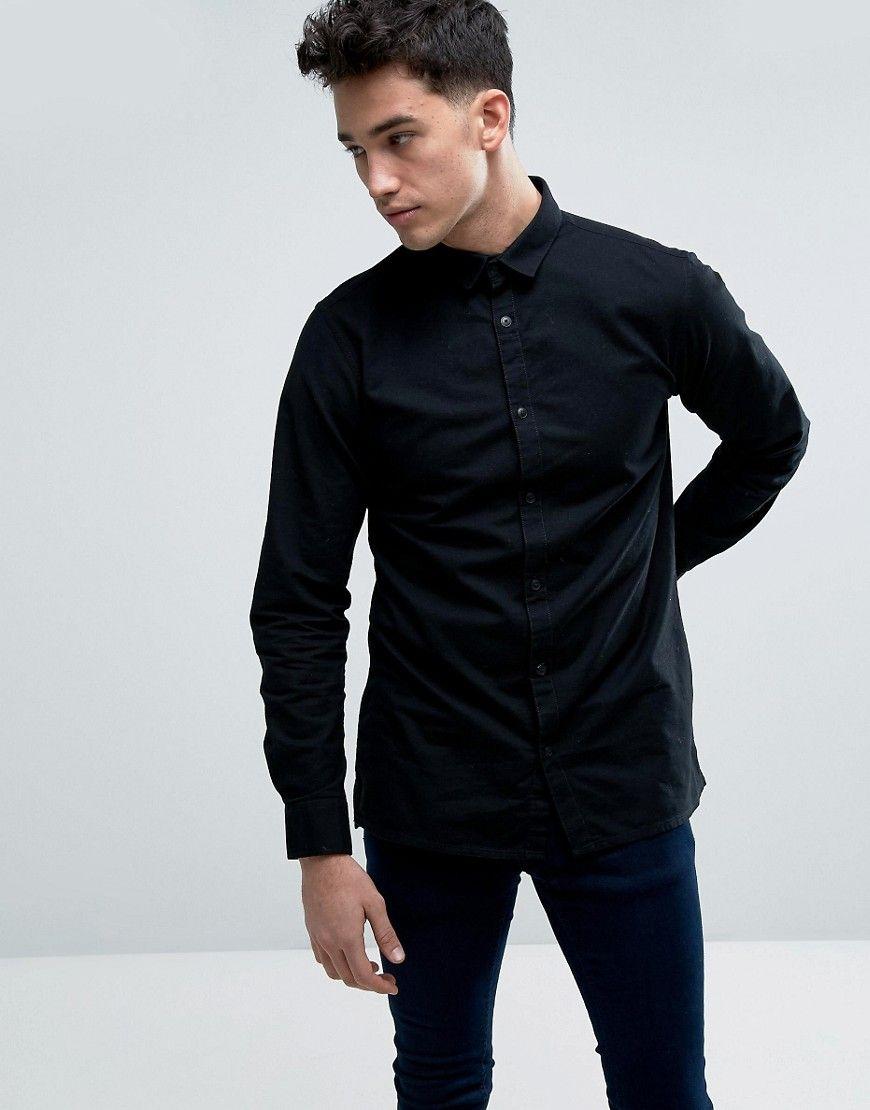 Shop Jack & Jones Core Long Sleeve Slim Fit Oxford Shirt at ASOS.