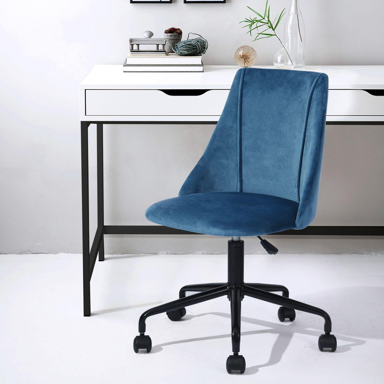 Chaise De Bureau Bleu Velours Metal Cian P F1 Cf Vente De Urban Meuble Conforama En 2020 Chaise De Bureau Confortable Fauteuil Bureau Chaise Bureau
