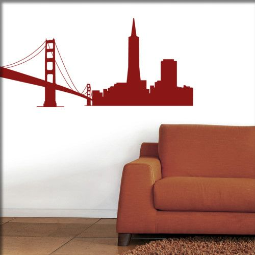 Rot San Francisco Silhouette Frisco Wandtattoo