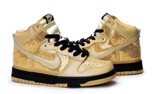 67131347532e Gold sparkly Nikes... I want