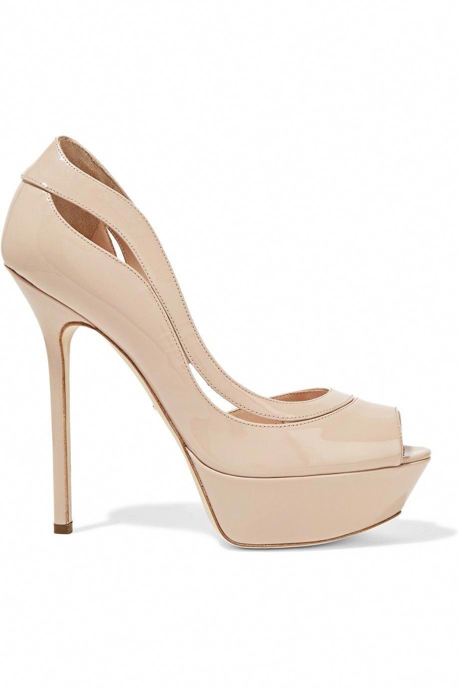 744c0fbb96b SERGIO ROSSI Yin Yang Cutout Patent-Leather Platform Sandals.  sergiorossi   shoes  sandals