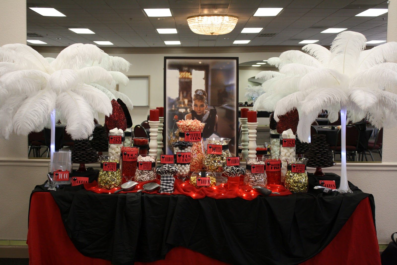 Vintage Hollywood Candy Buffet Hollywood Decorations Hollywood
