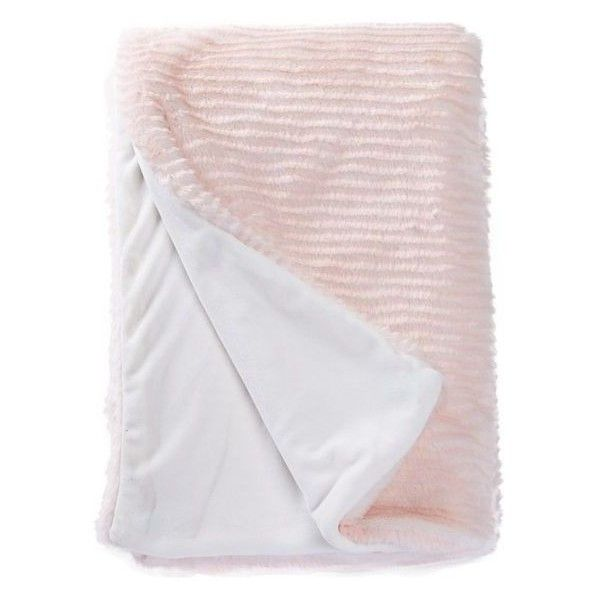Blush Pink Throw Blanket New Nordstrom Rack Ivorypink Blush Striped Faux Fur Throw Featuring 2018