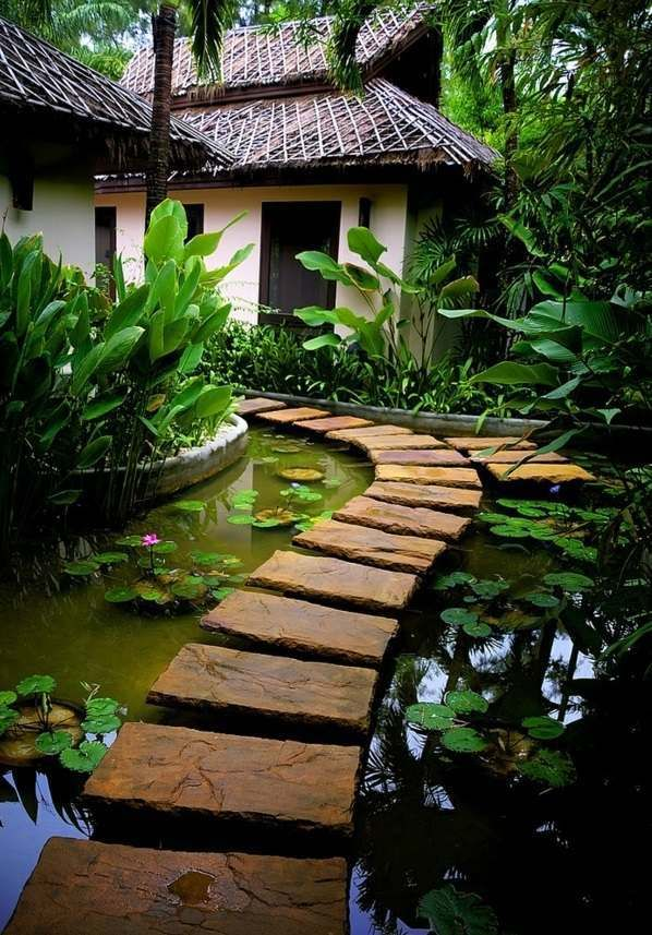 34 water garden and koi pond designs for the backyard and