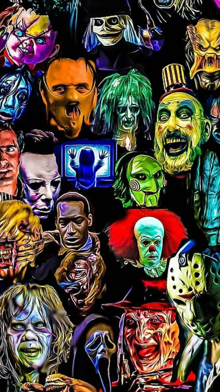 Movies Wallpaper in 2021 | Scary movie characters, Horror ...