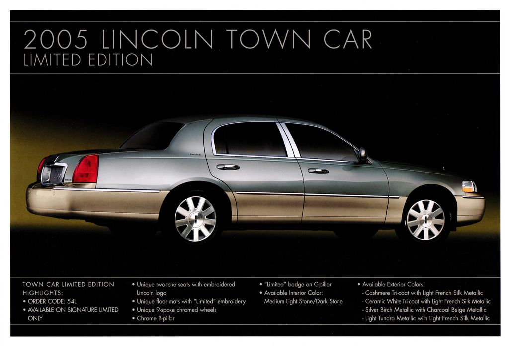 2005 Lincoln Continental Town Car Limited Edition Lincoln Town