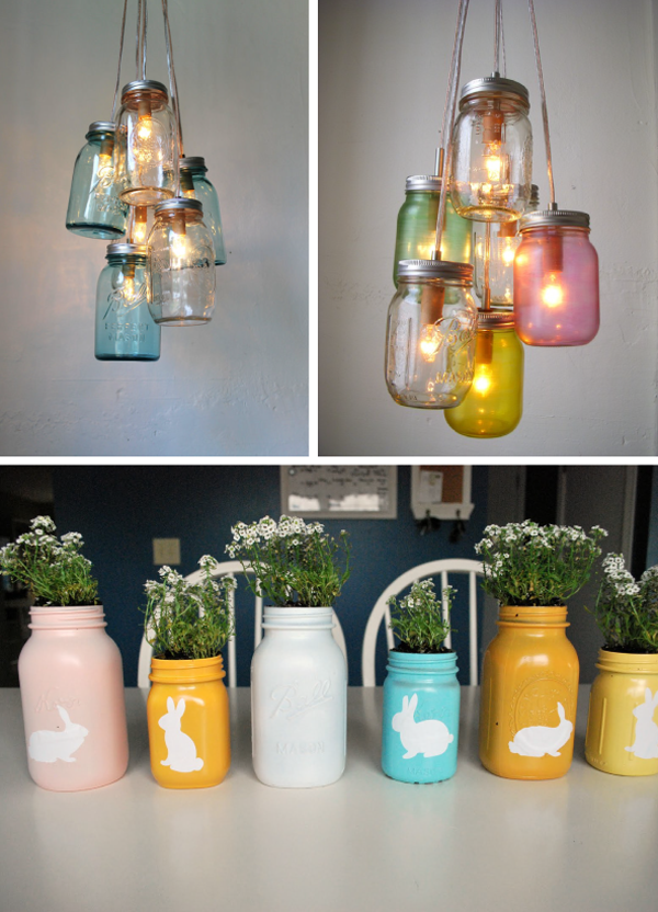 Mason Jar Love These Diy Easter Centerpieces