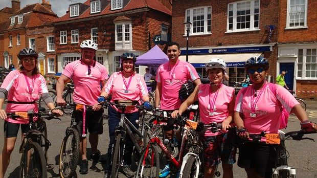 Access Legal get on their bikes to raise funds for St Michael's Hospice, Hampshire