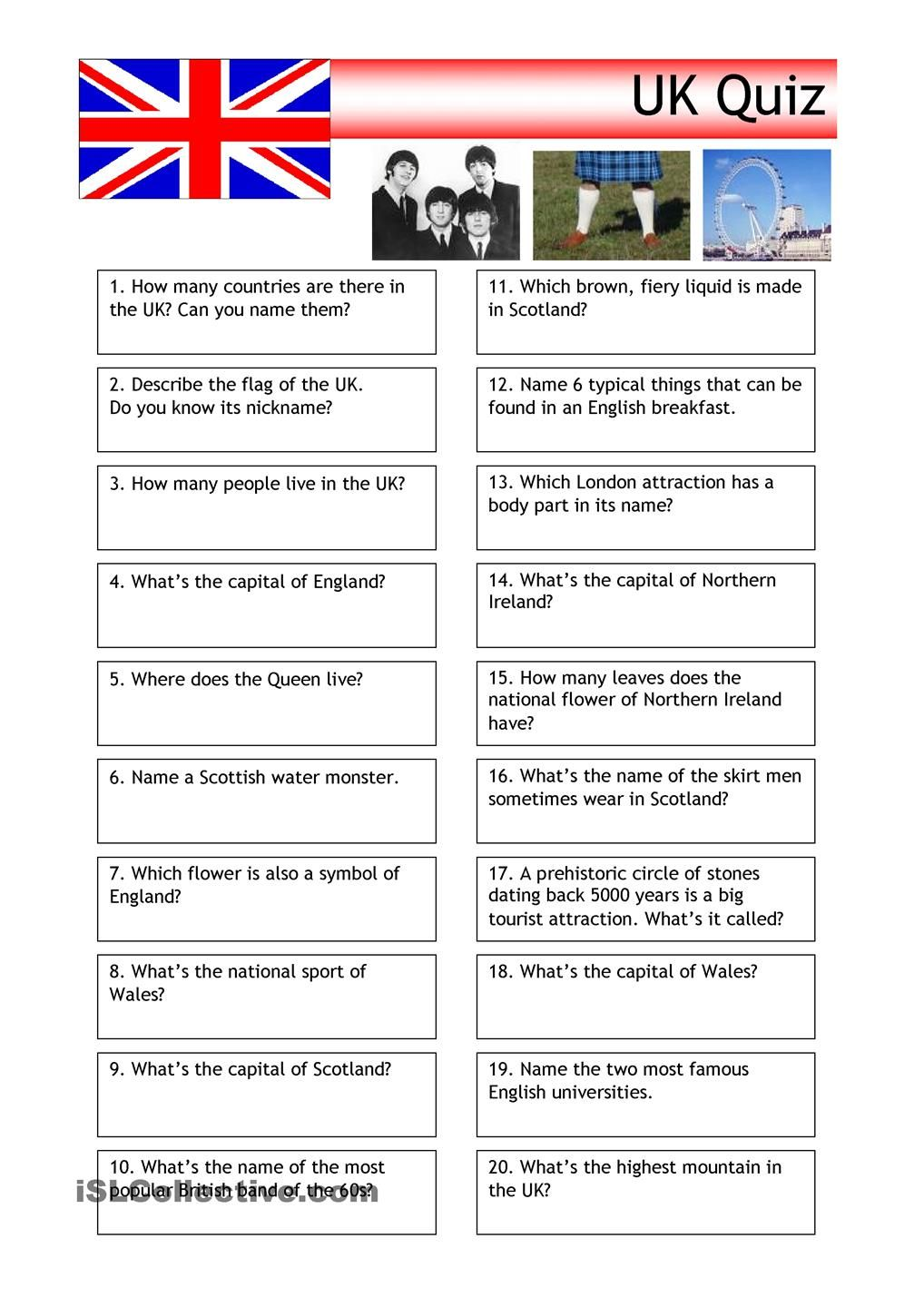 the uk worksheets Google Search Quiz