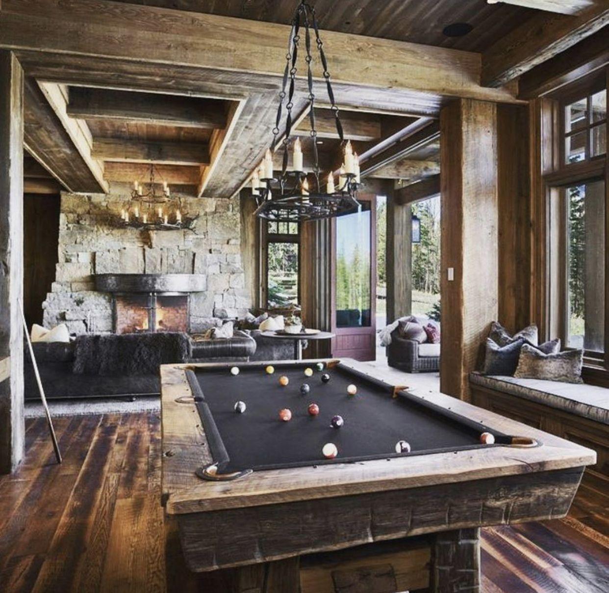Game Room In 2020 Rustic Family Room Pool Table Room Billiard Room