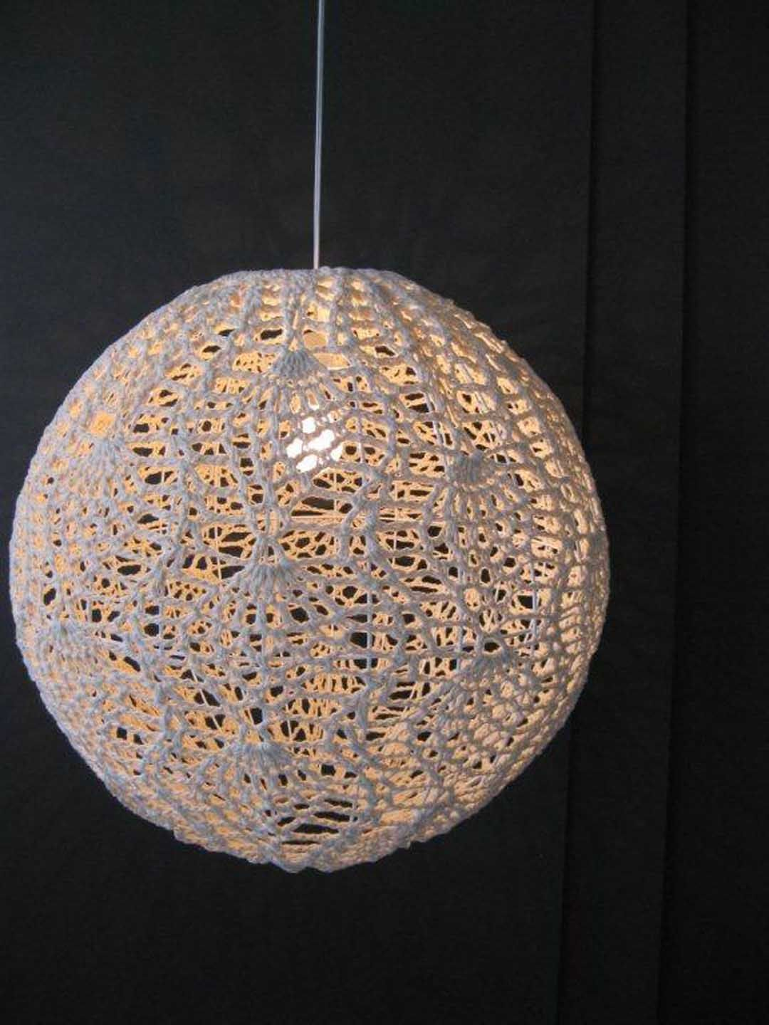 Crochet lampshade • Mum\'s Collection | Beautifully Crocheted ...