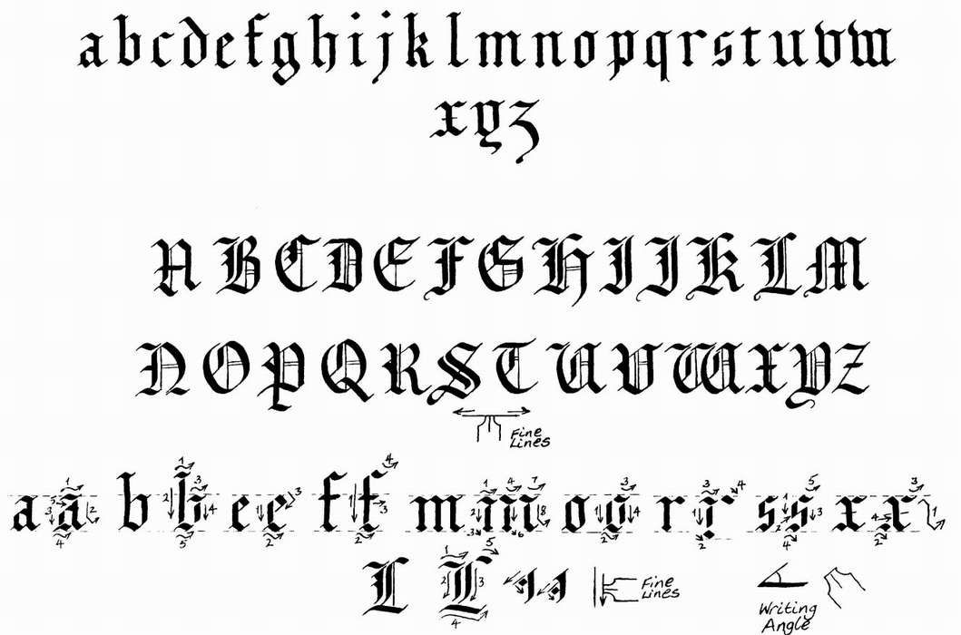 10 Old English Calligraphy Font Images (With images