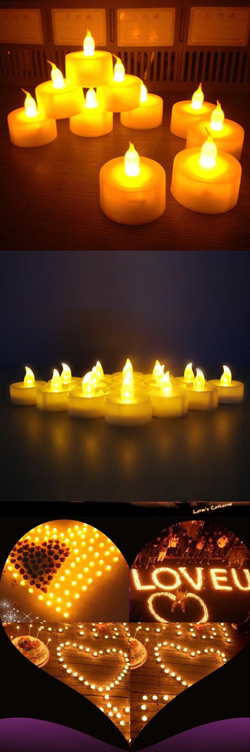 Visit to buy pcspack flickering flameless led tealight flicker