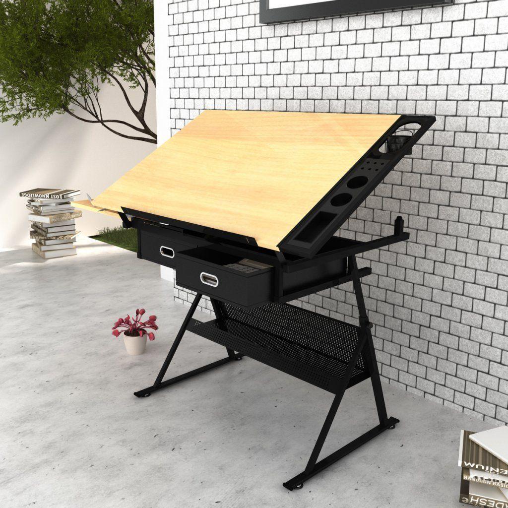 Vidaxl mesa de dibujo inclinable con tablero y taburete - Mesas de arquitectura ...