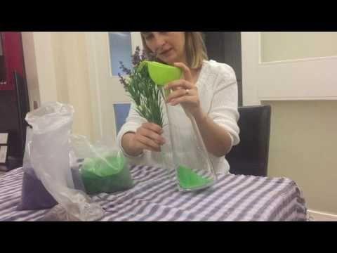 Muhteşem hediye kumlu vazo - YouTube