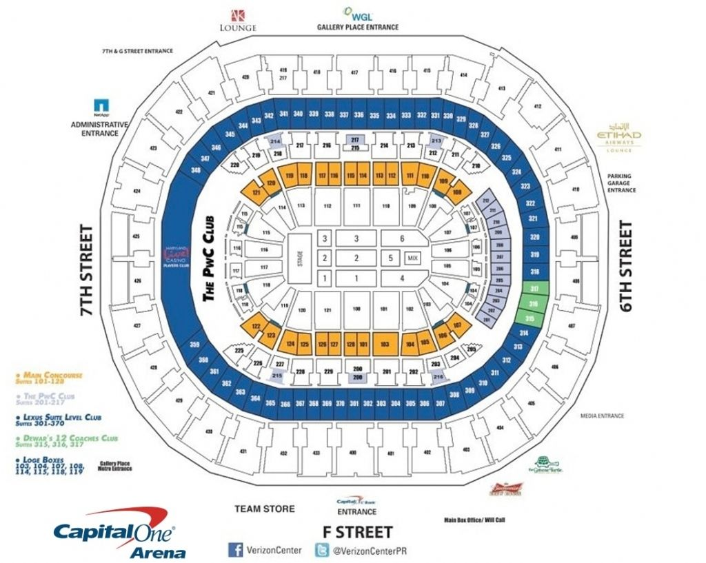 Wizards Seating Chart Verizon Center Seating Charts Chart