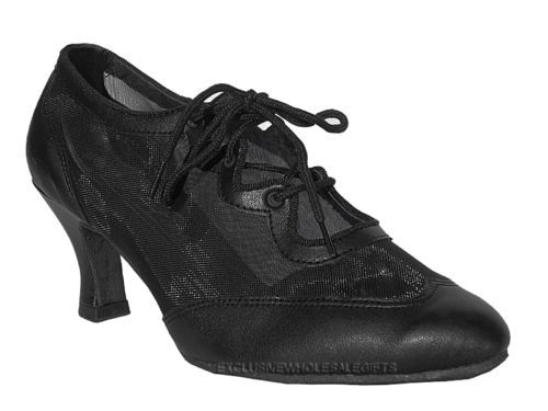 71715fb2d Womens Ballroom Salsa Latin Practice Leather Dance Shoes 6823 Very Fine 2 5  Heel   eBay