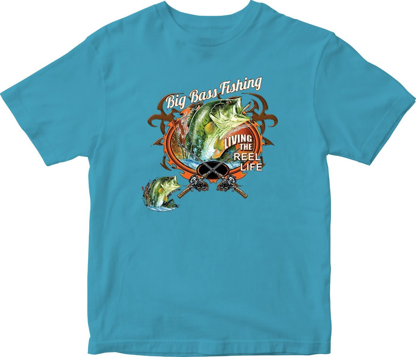 8e33e585abc Big Bass Fishing Printed T-Shirt Tall | Products | Bass fishing ...