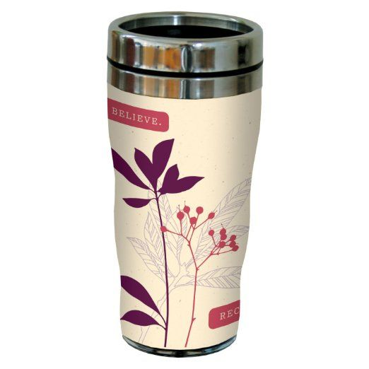 Tree-Free Greetings 77480 Contemporary Believe Receive Art Sip 'N Go Travel Tumbler, 16-Ounce, Multicolored : Amazon.com : Home & Kitchen