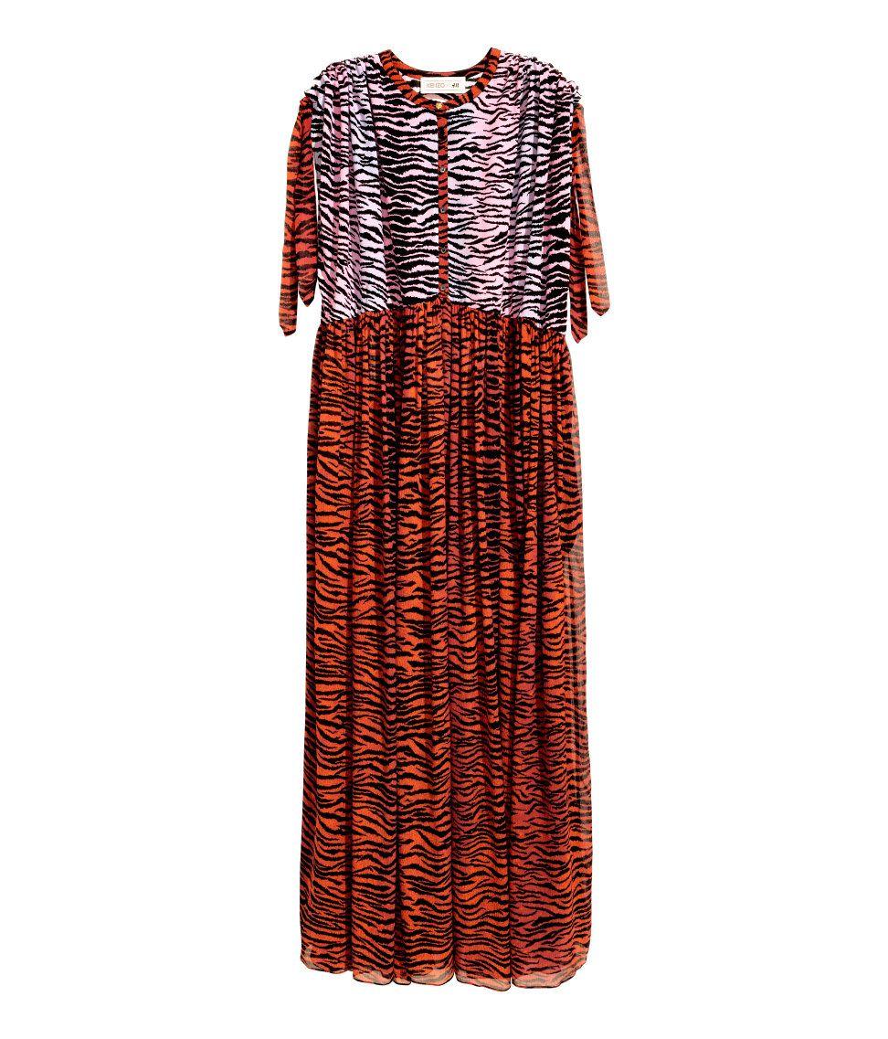 d269b267adf690 Maxi-jurk van zijdechiffon