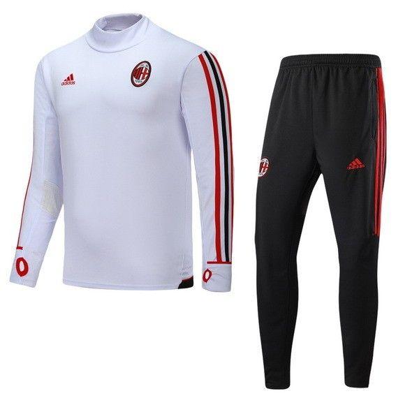 survet de foot Milan AC Blanc 20172018 pas cher | Survetement
