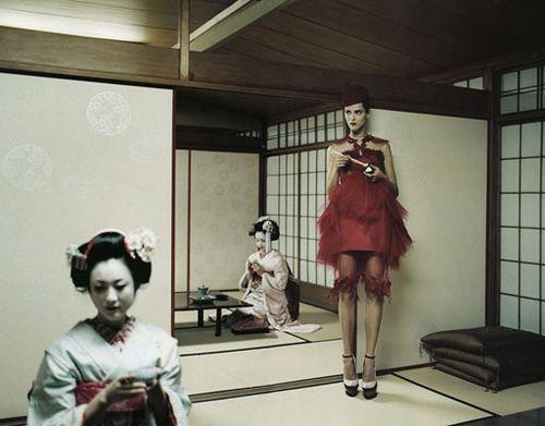 Stranger in a Strange Land I Vogue Nippon I October 2008 I Model: Carmen Kass I Photographer: Yelena Yemchuk I Editor: Anastasia Barbieri.