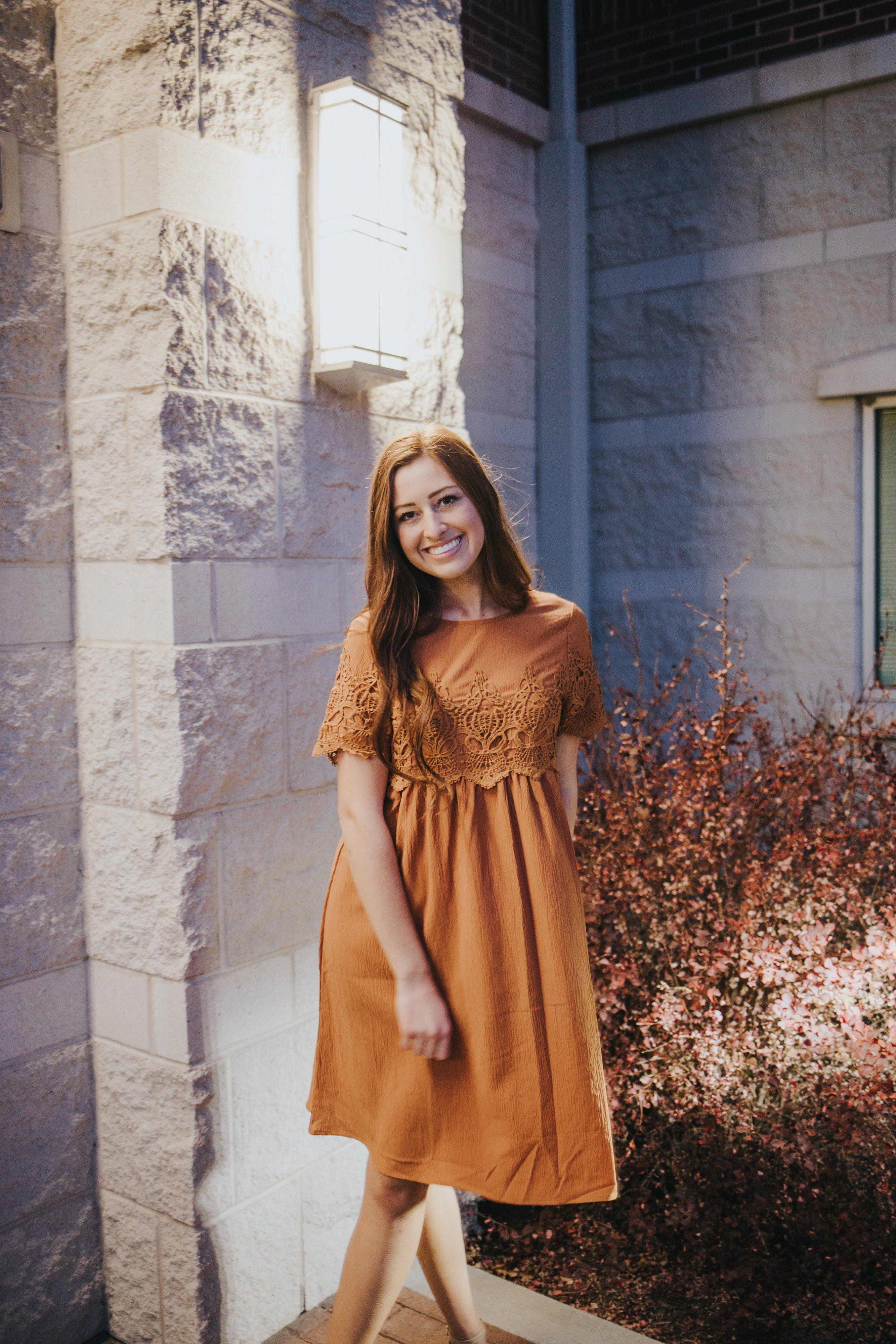 Hailey dress in rust citrus lemon dresses