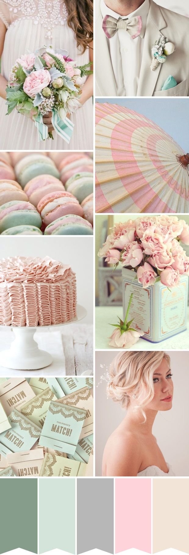 Pretty Pastels Wedding Palette Powder Pink And Duck Egg Blue