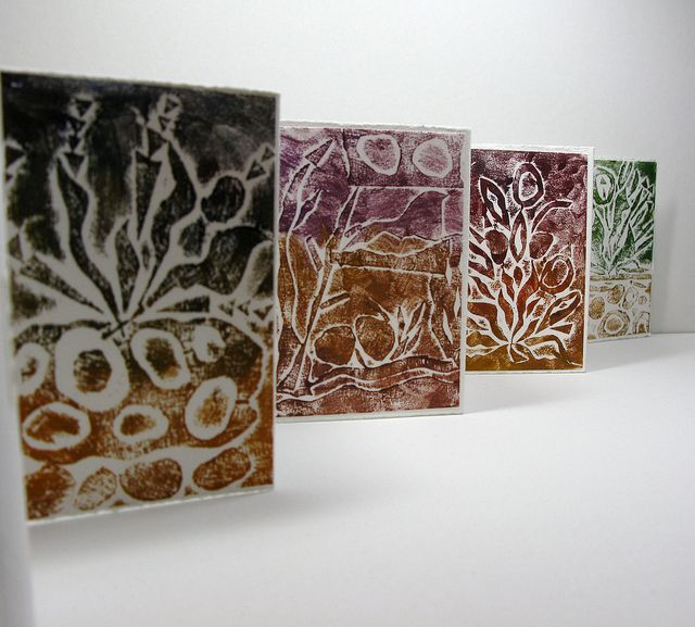 Accordian book with Collagraphs | Flickr - Photo Sharing!