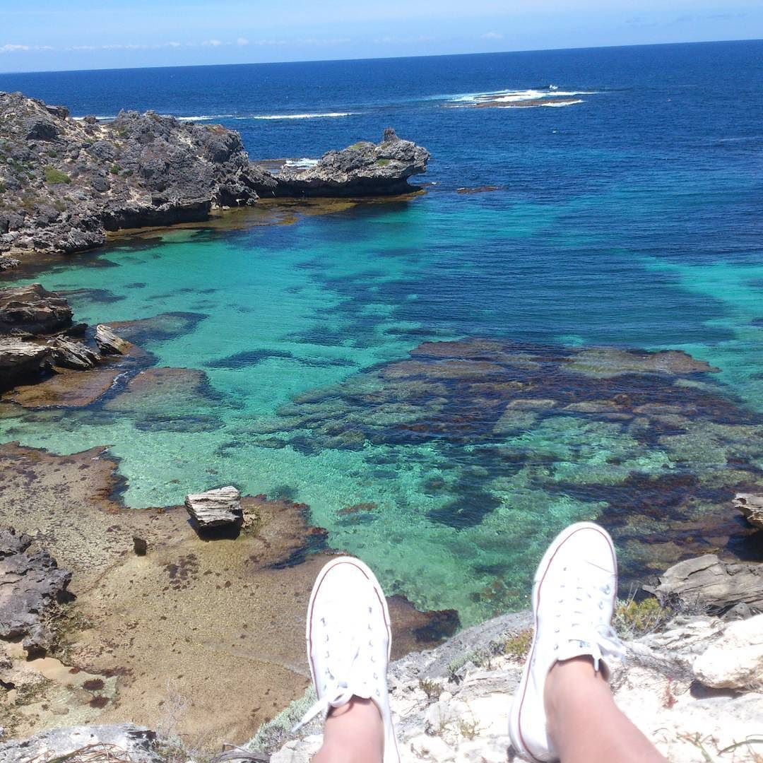 Sometimes we have to travel the path least worn to see the best views  #justchillinonacliff #rottnestisland #summer by tianabothaaa http://ift.tt/1L5GqLp