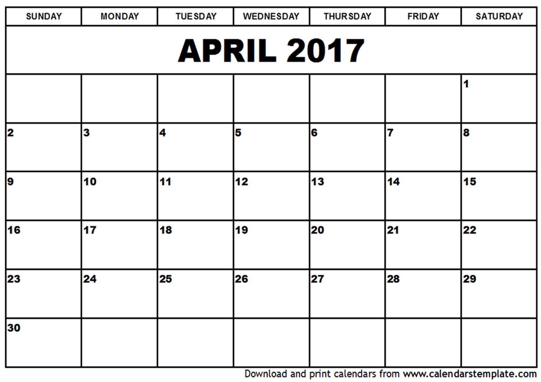 free editable calendar templates 2017
