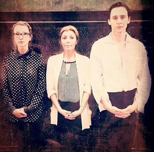 """@tomschesthairs: Tom Hiddleston on set of  #CrimsonPeak pic.twitter.com/ONG3Afe9pa"""