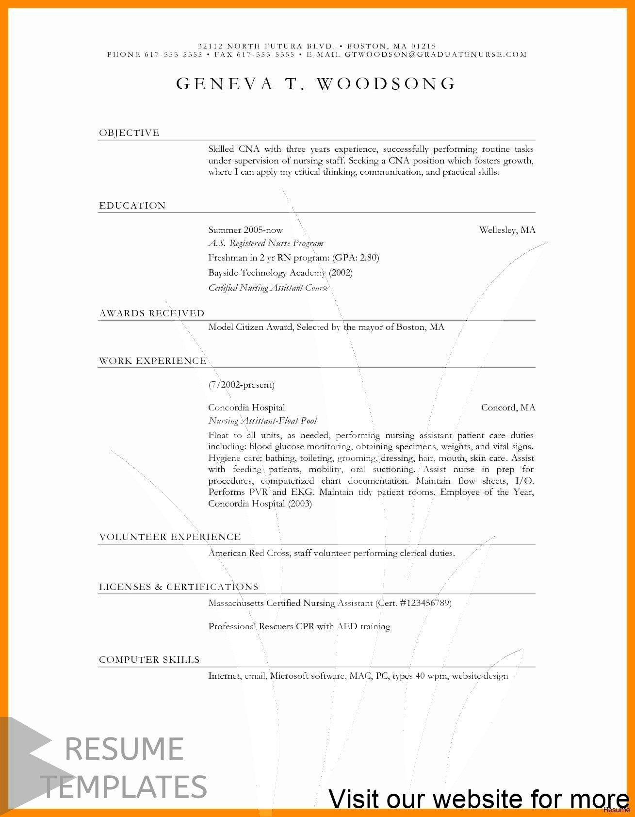 Resume Format Word Download In 2020 Resume Cover Letter Examples
