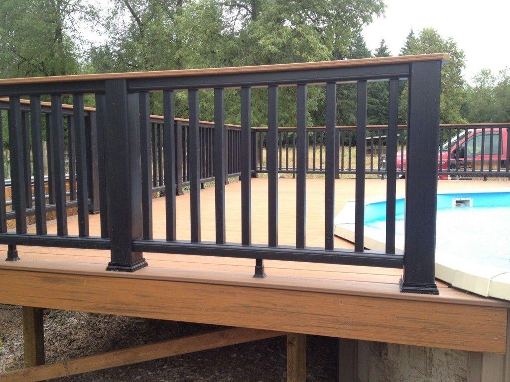 Pool Deck Railings Wrought Iron Gate Fence Railing