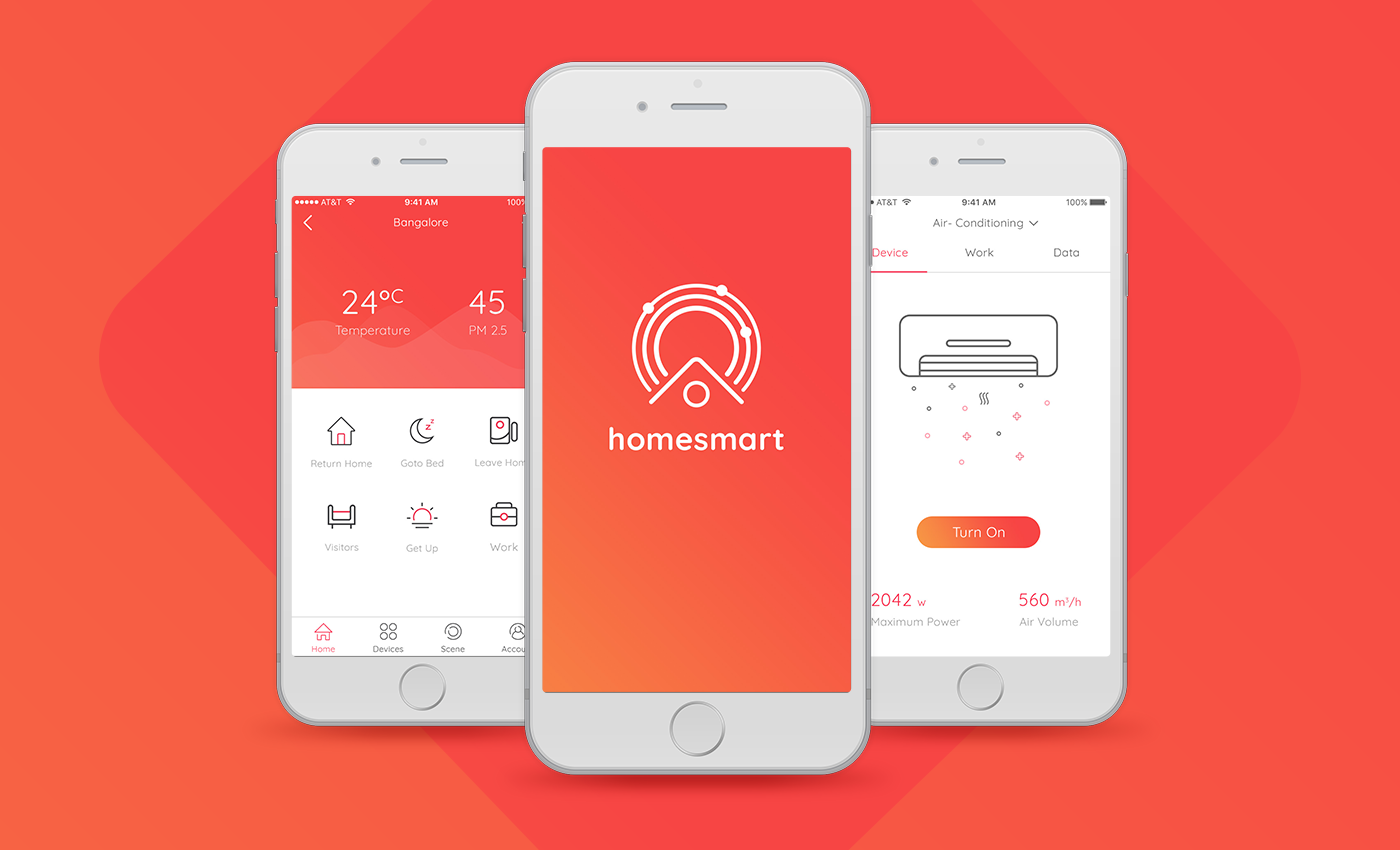 """Check out my Behance project """"SMART HOME APP CONCEPT"""