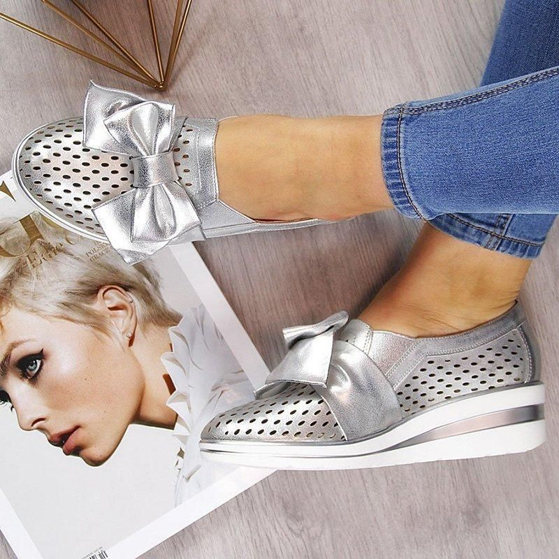 uk cheap sale exclusive deals lower price with Summer bowknot sneakers | Bridal heels in 2019 | Shoes ...