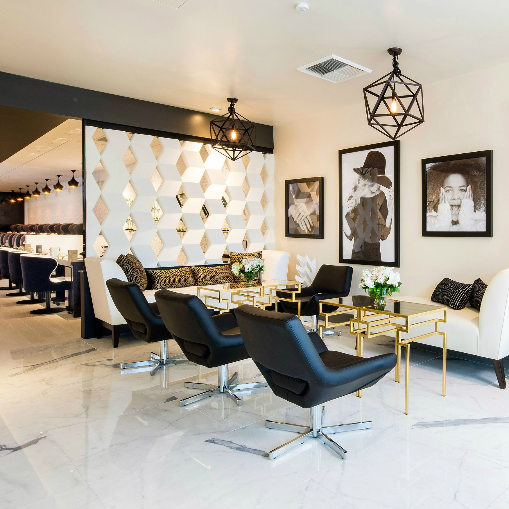 Studio Lounge  Salon Interior Inspiration  Nail salon decor Beauty salon interior Beauty