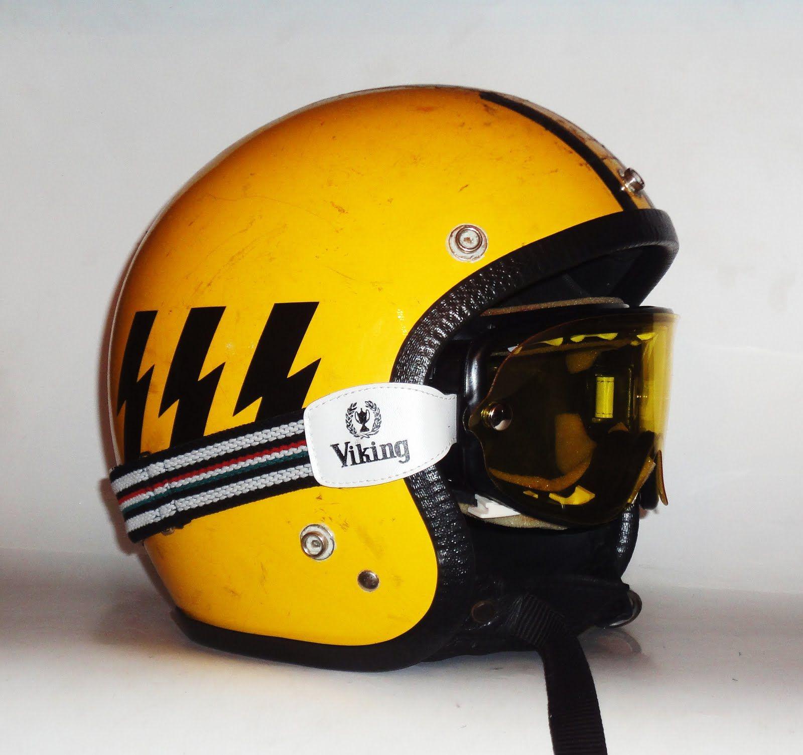 Joe King Speedshop Nos Viking Goggles Retro Helmet Cool Motorcycle Helmets Vintage Helmet