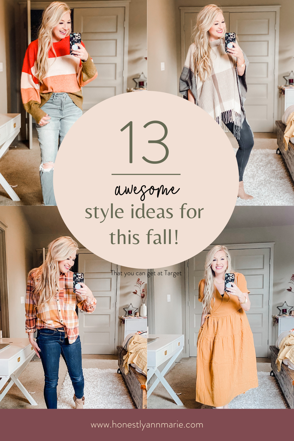 Fall is knocking at the door, my friend, and I, for one, am letting her right on in. After a slight miscalculation about being able to use fitting rooms at Target, I decided to bring the fitting room to my bedroom, and I'm showing you all of my favorite Target fashion finds...perfect for updating your wardrobe for changing season! fall style, fall wardrobe, fall looks, fall fashion ideas