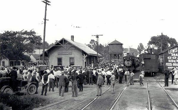 Lebanon Depot shortly before WWI