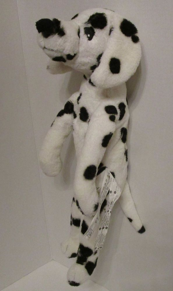 Ikea Dalmation Dog Plush Puppy Stuffed White Black Spots Toy 20