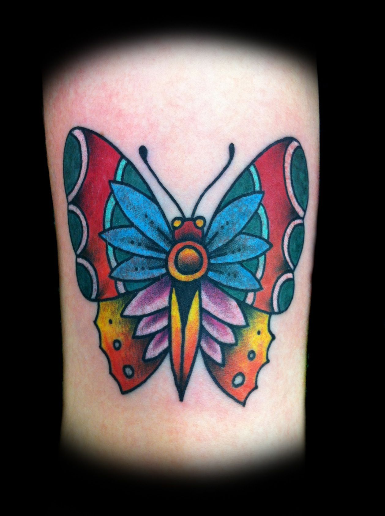 traditional butterfly tattoo Traditional Butterfly Tattoos