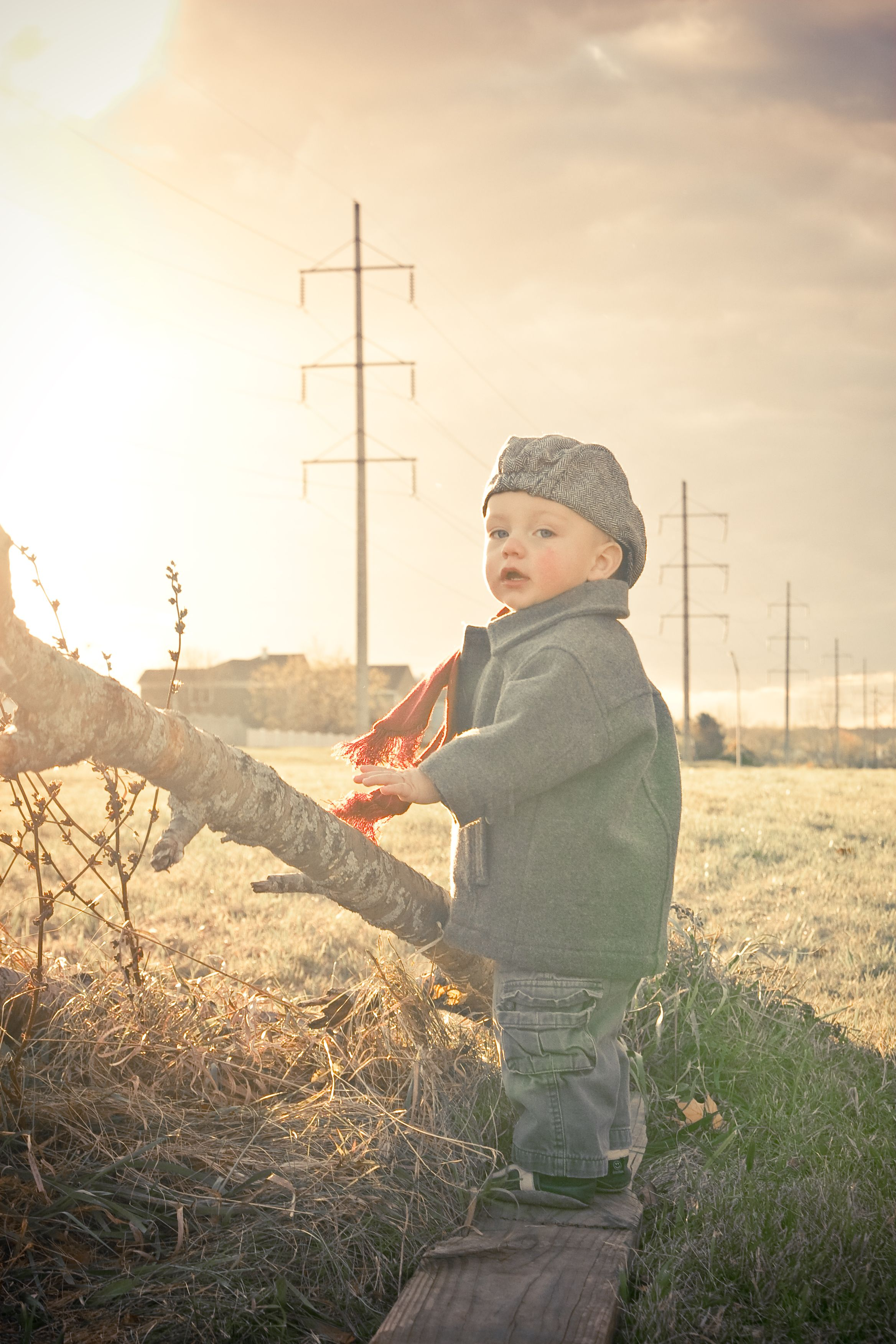 Toddler Boy My Baby Outdoor Photo Session