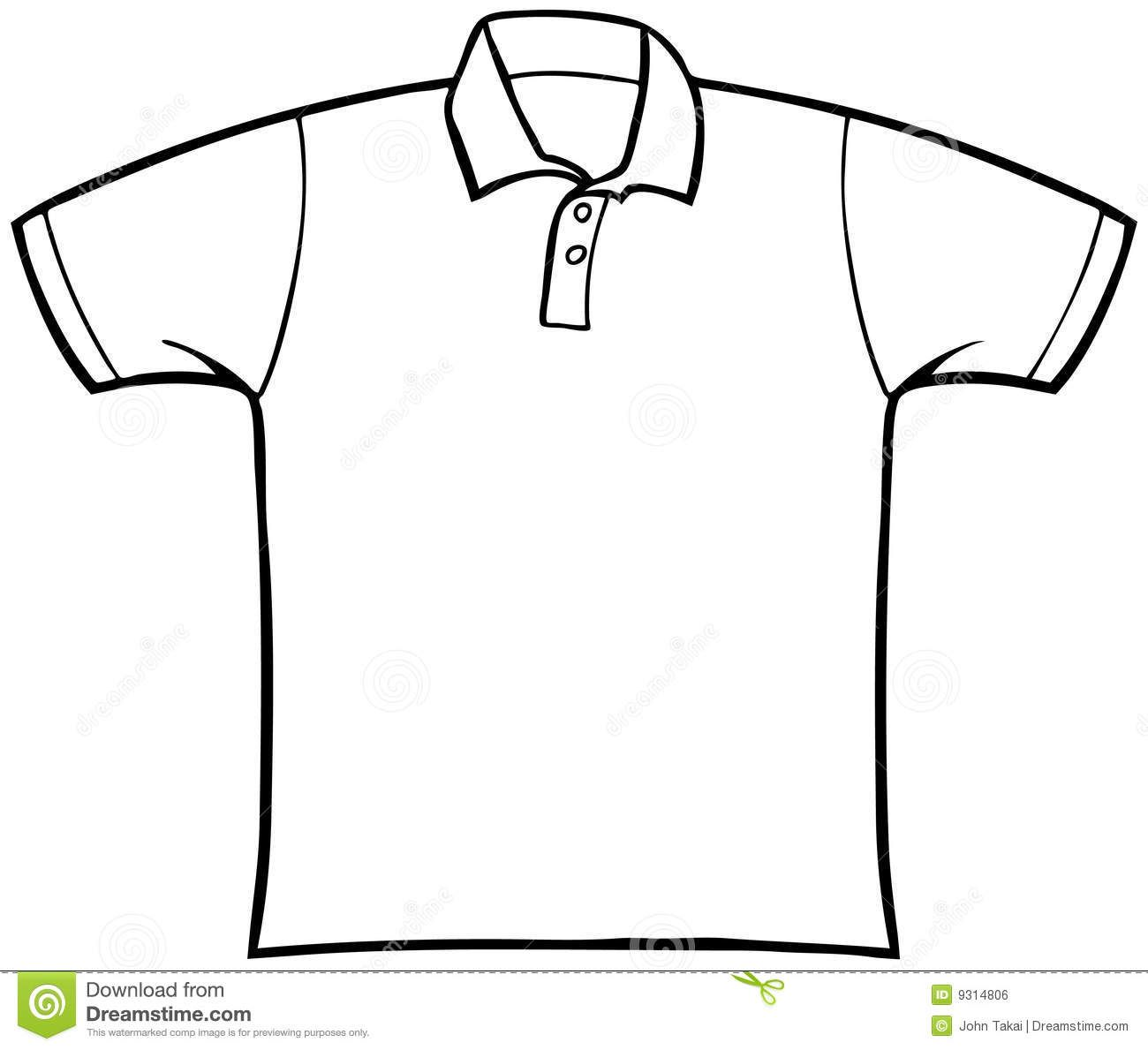 Collared T Shirt Royalty Free Stock Image Image 9314806 Image Clothes Free Clothes Black And White