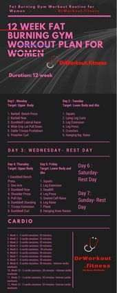 Workout Plan for Women #workout #women #fatburning #fitness ...  Trainingsplan für Frauen #trainiere...