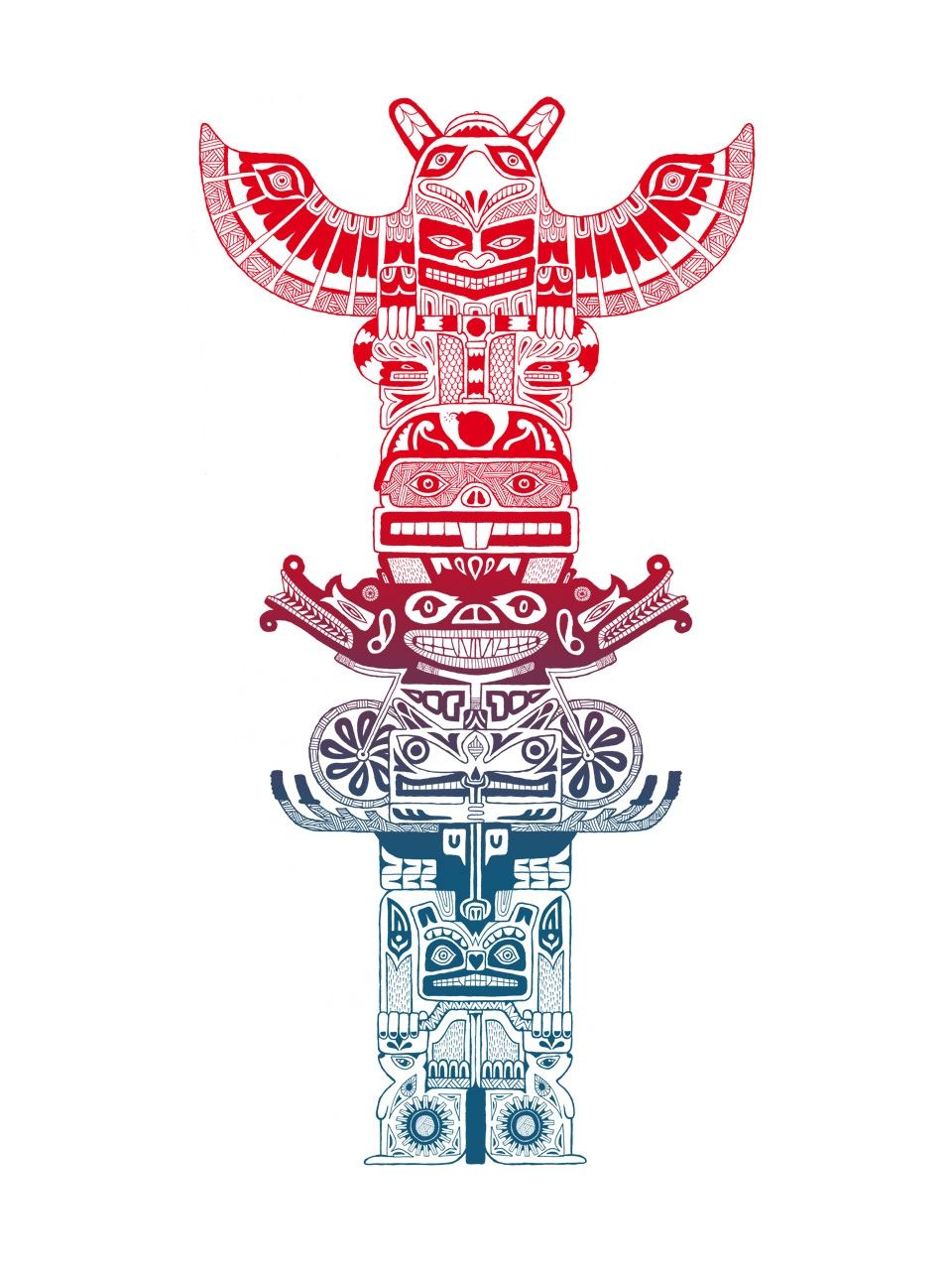 animal spirits my totem pole by wylethorn deviantart com on