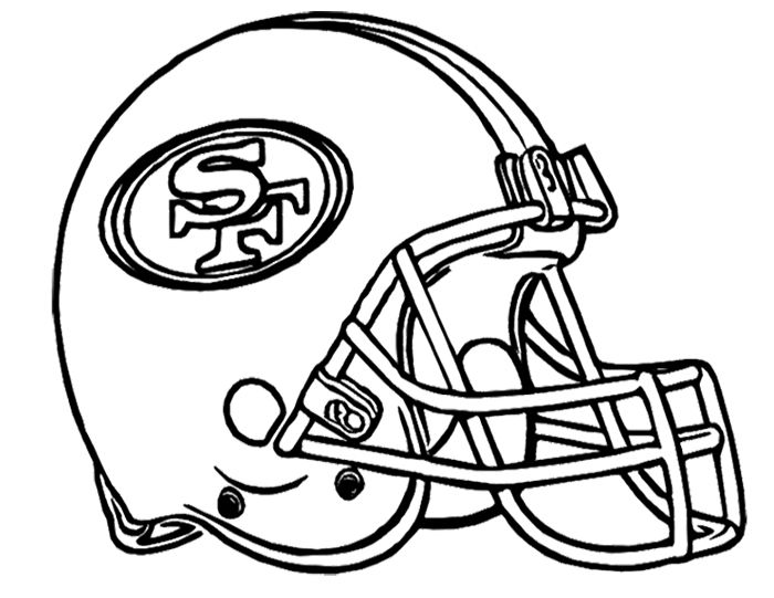 Football helmet san francisco 49ers san francisco 49er 39 s for Sf 49ers coloring pages